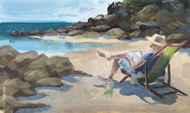 Vacances peinture à l'huile, Holidays oilpainting