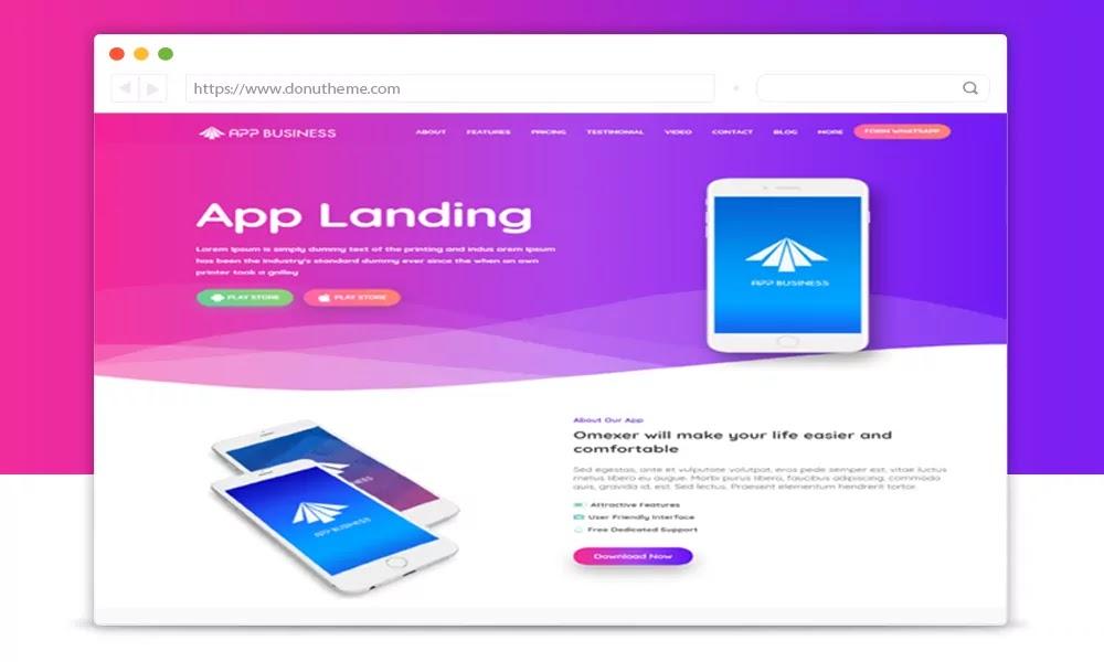 App Business Blogger Template v2.0