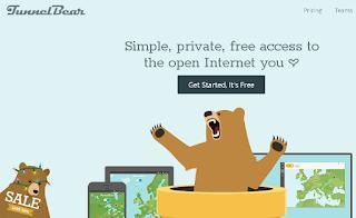 Kumpulan Layanan VPN Gratis TunnelBear VPNl