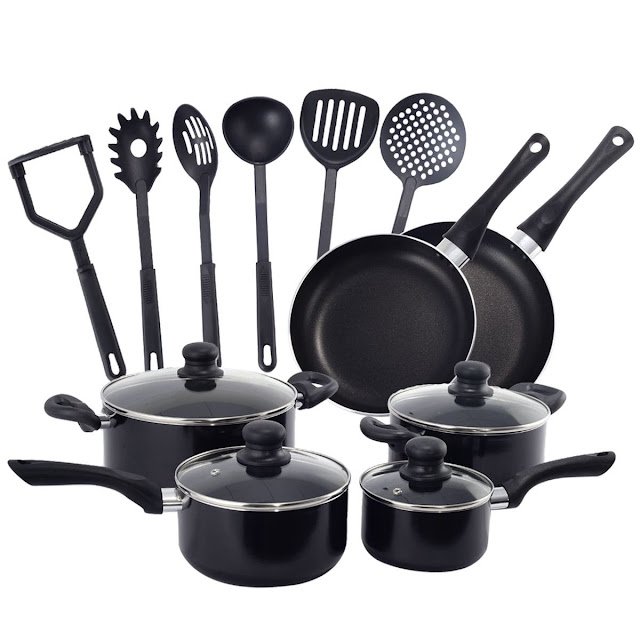 Deal: 16 Pieces Non Stick Cooking Kitchen Cookware Set – $50.99