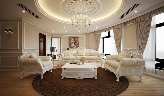 Thiết kế nội thất phòng khách biệt thự Louis City