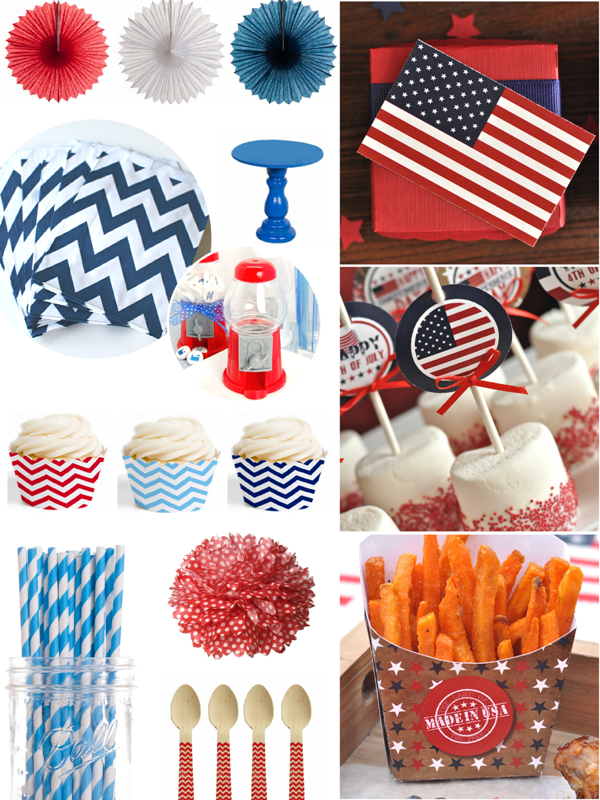 Last Minute Red, White & Blue Party Inspiration - BirdsParty.com