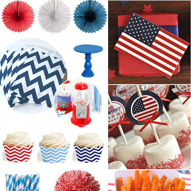 Last Minute Red, White & Blue Party Inspiration