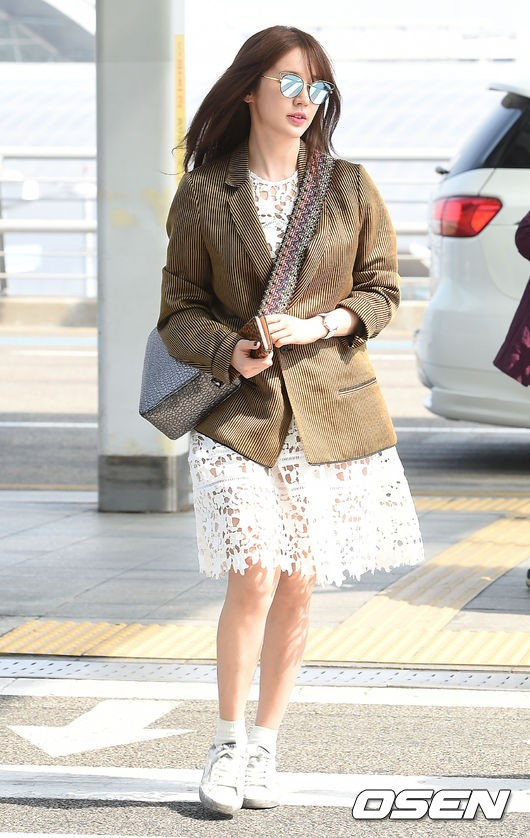 Wandering Thoughts My K World Airport Fashion Yoon Eun Hye Spotted Incheon Leaving For Macau