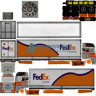 Download Livery Truck Mercy Actros Roda 18 FedEx Express