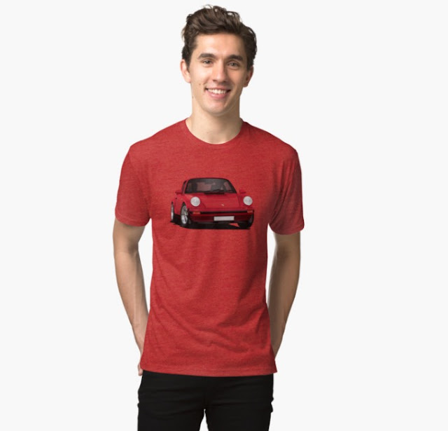 Porsche 911 illustration 80's t-shirt