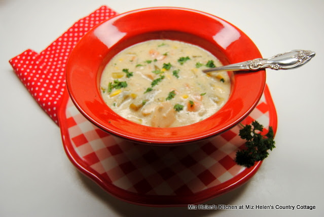 Cream of Turkey Vegetable Soup at Miz Helen's Country Cottage