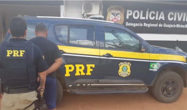 Foragido da justiça por tráfico de drogas é preso pela PRF