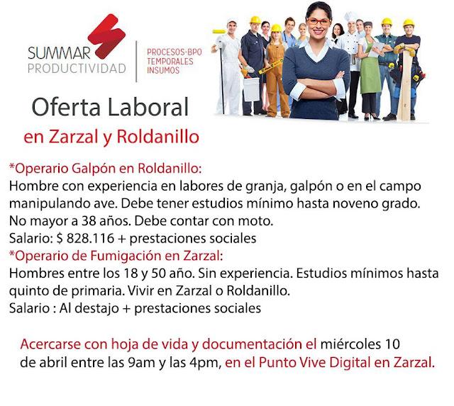 Operario Zarzal Roldanillo