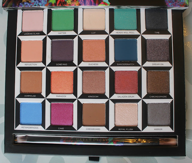 Photograph of the Urban Decay Alice Through the Looking Glass Eyeshadow Shades