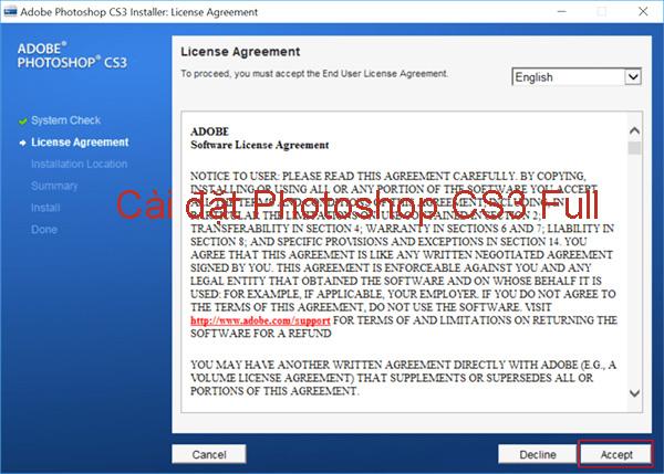 Hướng dẫn cài đặt Photoshop CS3 Full đơn giản, nhanh chóng a