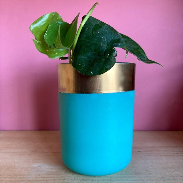Blue Upcycled Plant Pot