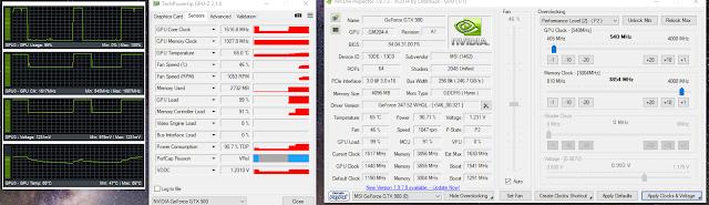 GPU Overclocking Settings for mining in P2