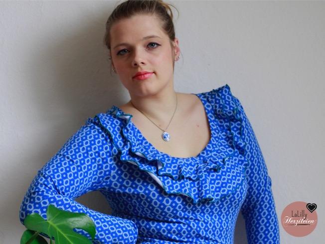 Damenshirt mit Volants selber nähen