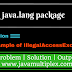 Demo of IllegalAccessException | java.lang package