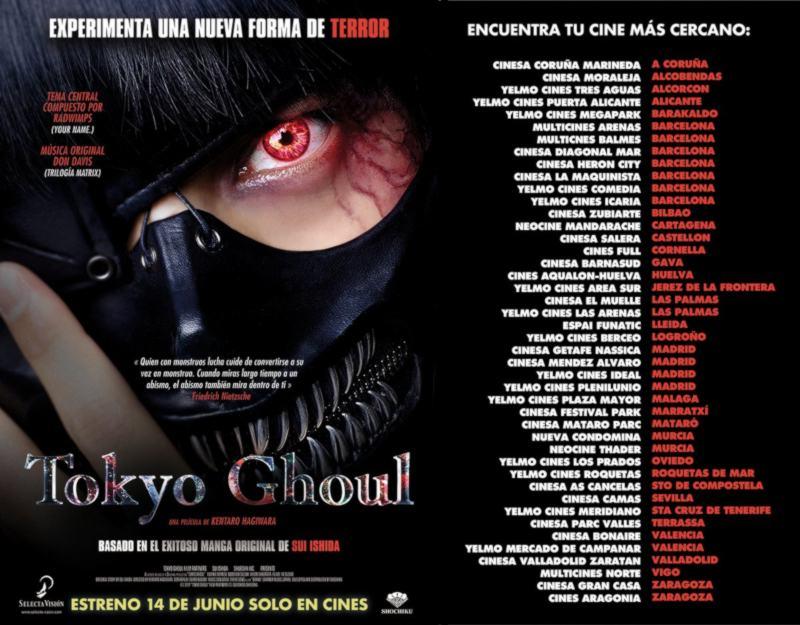 Tokyo Ghoul live-action - estreno en cines - Selecta Visión