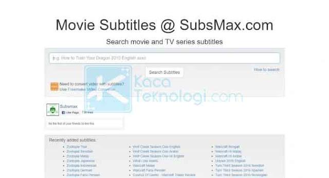 Terdapat jutaan subtitle siap unduh pada situs ini. Subsmax menyediakan subtitle untuk film dan juga serial TV.