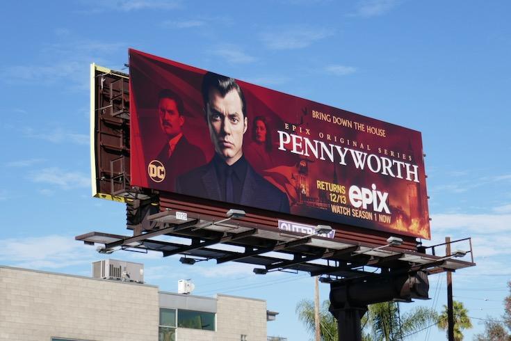 Pennyworth season 2 Epix billboard