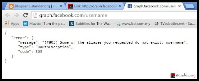 Link http://graph.facebook.com/username Sudah Tidak Berlaku, Pakai Cara Lain..