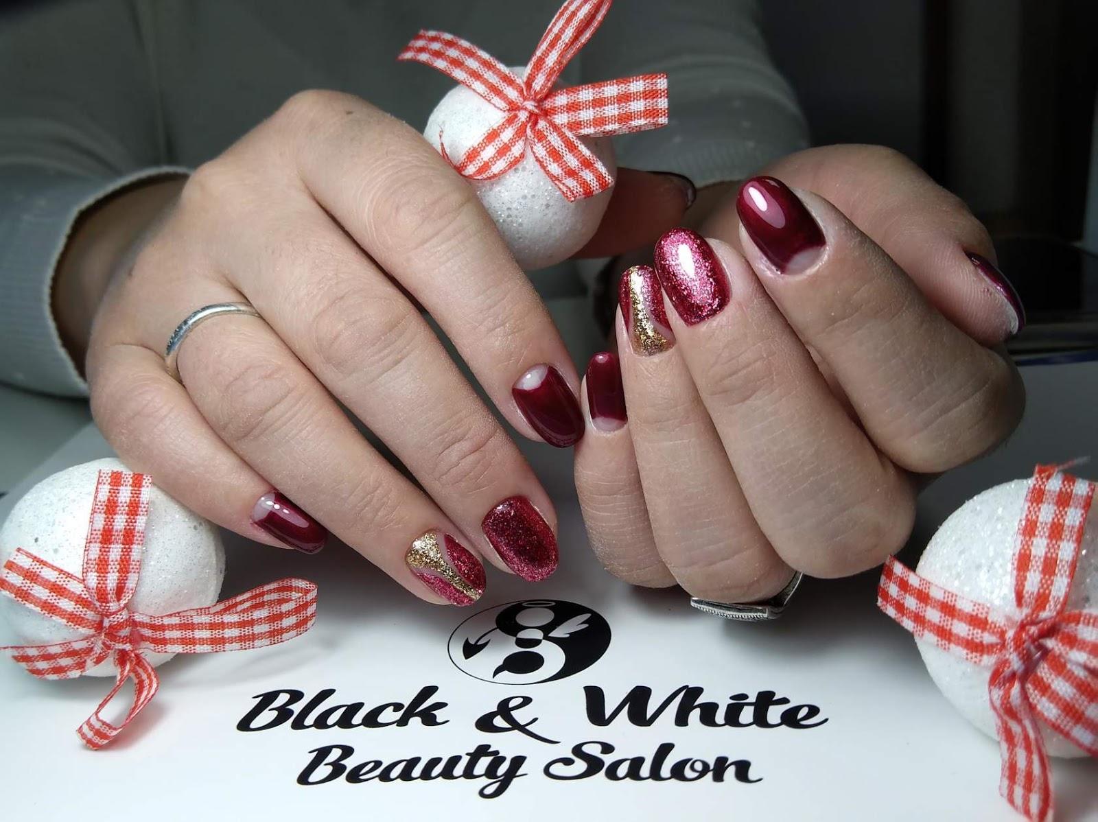 Black & White Nails Art Disign: Nail Salon Williamsburg Brooklyn