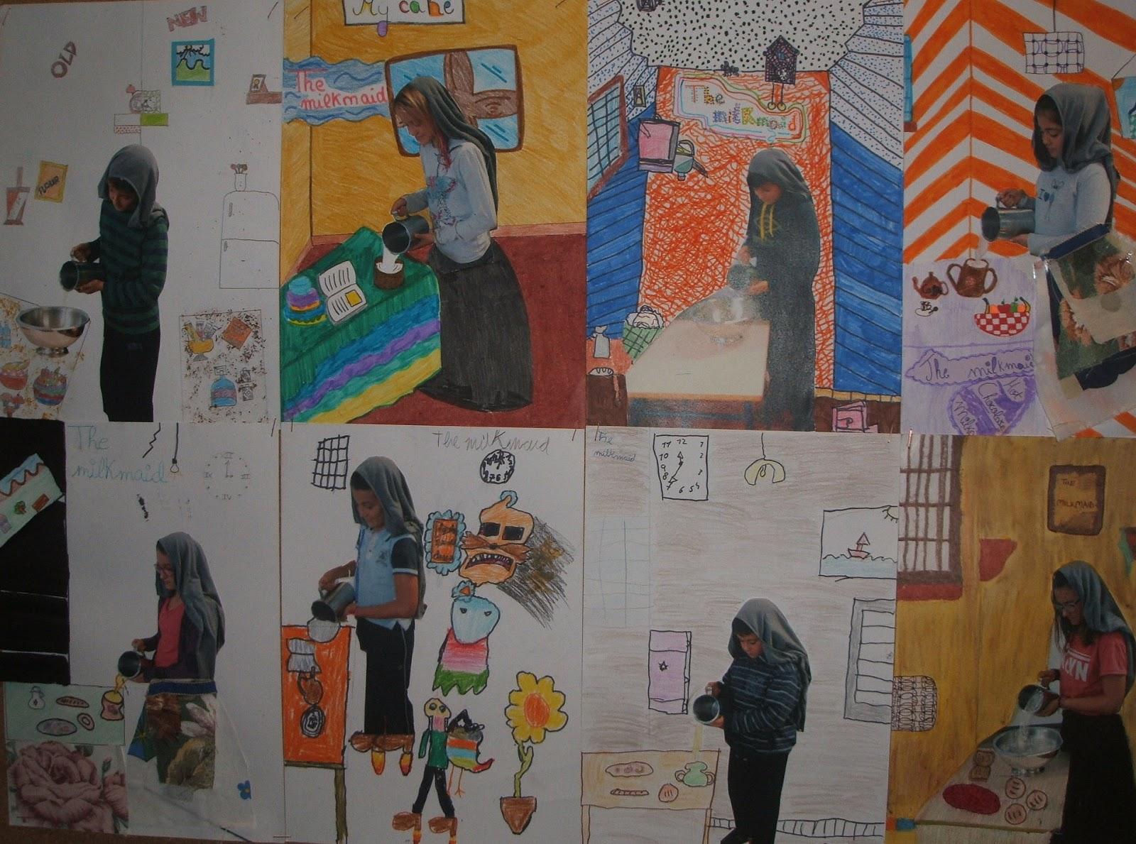 Arte en la escuela mayo 2016 - La lechera de vermeer ...