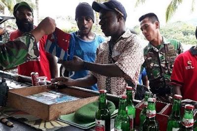 TNI Sita Atribut Bintang Kejora di Perbatasan Indonesia-Papua New Guinea