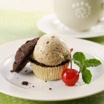 cara membuat brownies cup ice cream