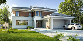 moderne häuser mit doppelgarage