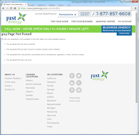 Just Energy Unlimited PA landing page