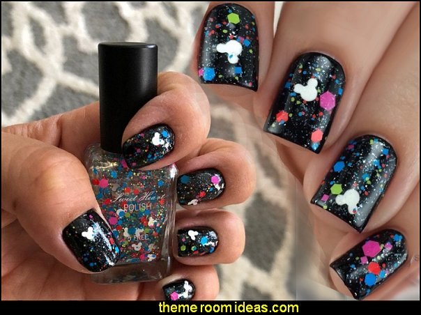 Disney World or Bust - Artisan 5-free Vegan Nail Polish mickey mouse glitter nail polish