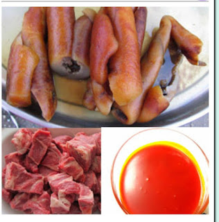 Ingredients for cooking afang soup