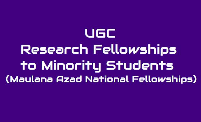 UGC Research Fellowships