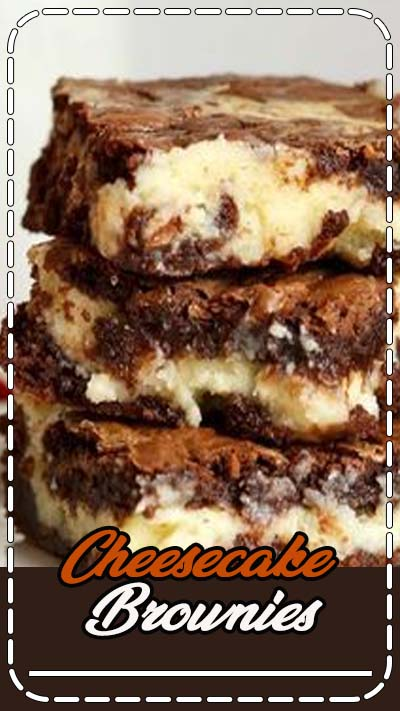AMAZING Cheesecake Brownies - the delicious chocolate dessert with a cream cheese and white chocolate chip layer.