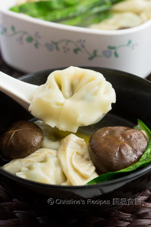 鮮菇雲吞湯 Wonton Mushroom Soup02