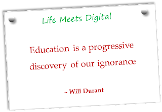 education is progress discover of ignorance