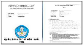 Contoh RPP Kelas 4 Edisi Revisi Kurikulum 2013