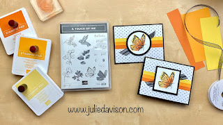 Stampin' Up! Sale-a-Bration Spotlight: Touch of Ink Cards  + VIDEO tutorial ~ www.juliedavison.com #stampinup #saleabration #sab2021