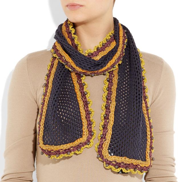 Burberry Prorsum Scarf Pattern Cook Knit Paint