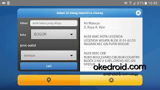 Cek lokasi isi ulang e money mandiri info android