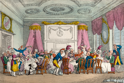 A Table D'Hote or French Ordinary in Paris by Thomas Rowlandson (1810) The Met Museum DP883708