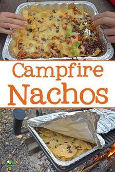 Everyone gets to customize their own nachos with this simple recipe made over the campfire or grill. Add your favorite ingredients!