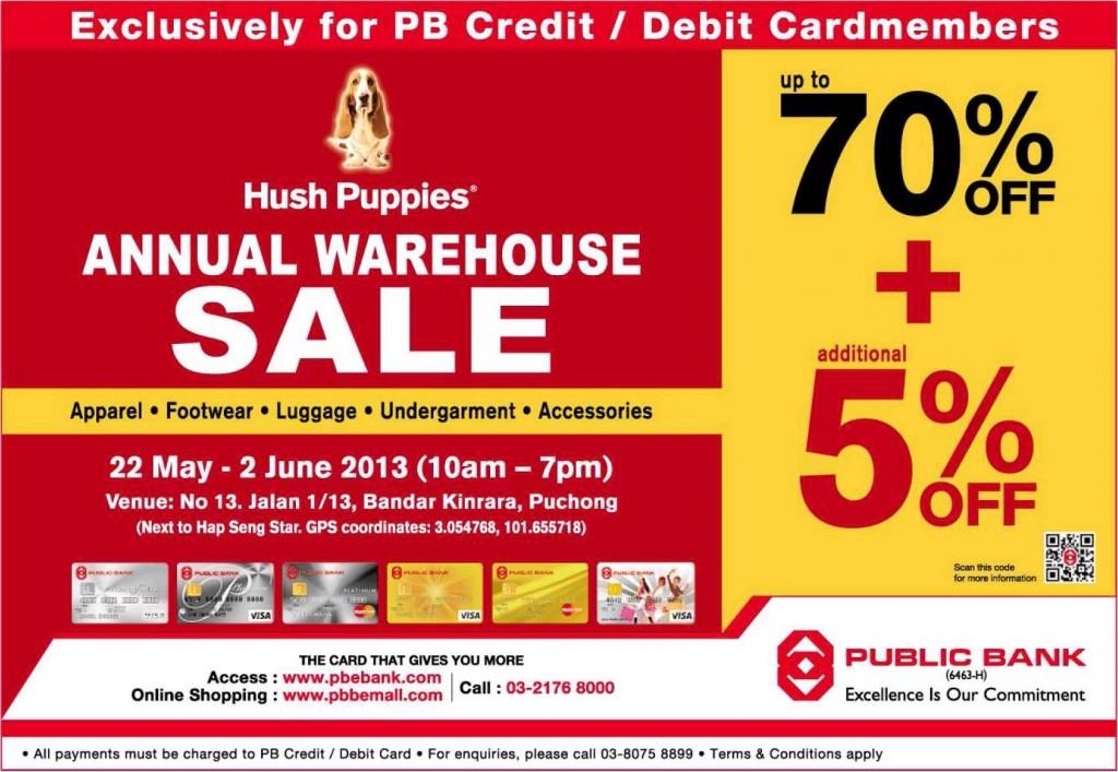 Malaysia Hot Deals  HUSH PUPPIES WAREHOUSE SALE 2013 78aabb11e3