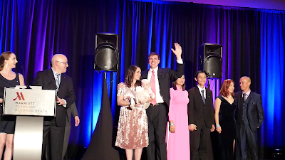 Timothy McGaffin II and Cheri McGaffin awarded on stage Enagic Kangen Water