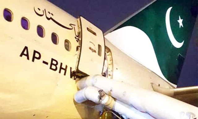 PIA PASSENGER OPENED EMERGENCY EXIT DOOR THINKING ITS A TOILET DOOR