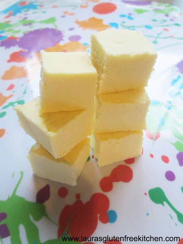 gluten free Vanilla Fudge