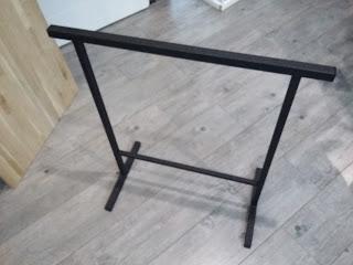 treteau noir metal style industriel