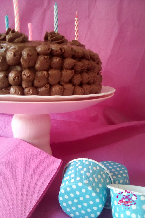 Tarta de mousse de chocolate