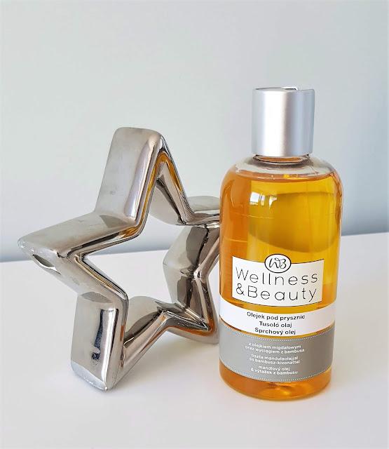 Wellness beauty olejek pod prysznic olejek migdałowy i wyciąg z bambusa
