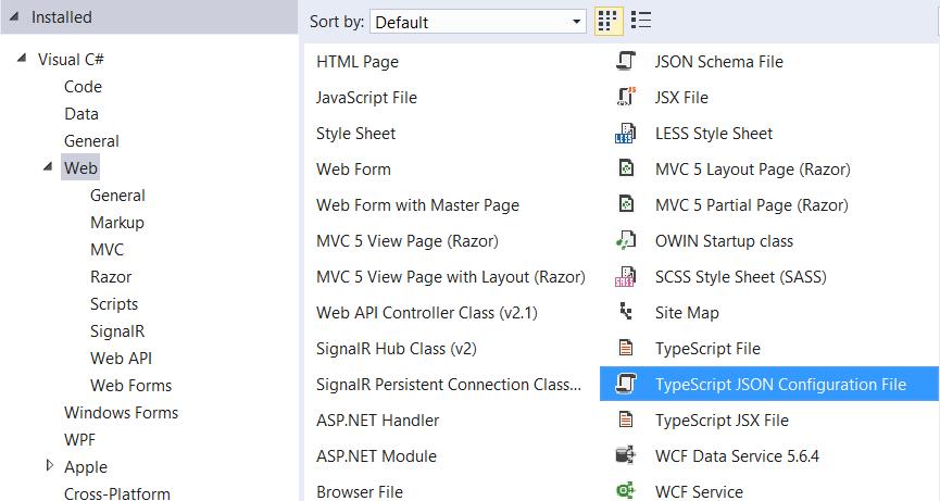 TypeScript JSON Configuration File