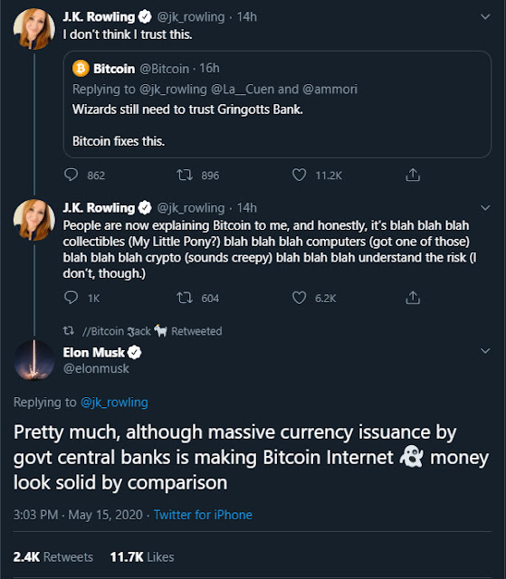 Tweets criptográficos de Elon Musk